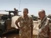 Lieutenant Colonel Stuart Carver, Battle Group Commander (left), with Brigadier John Lorimer, Commander of Task Force Helmand