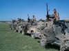 Wimik armed Landrovers, .50 inch calibre heavy machine-guns mounted