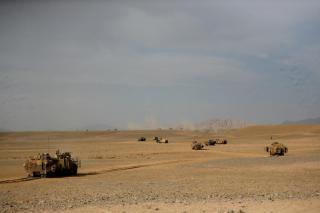 Moving Forward In The Desert